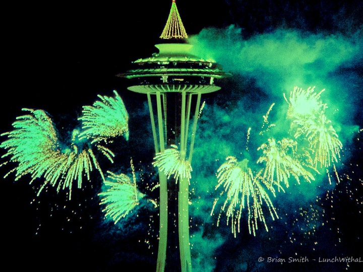 NYE Space Needle, Seattle