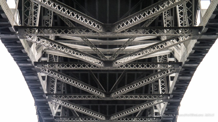 Aurora Bridge from below