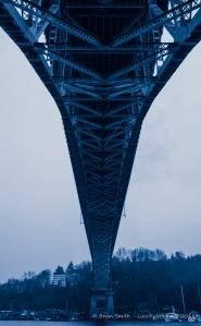 Aurora Bridge from the North underside